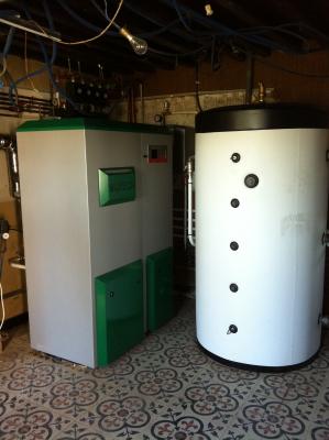 Chaudière granules Biotec à Lozanne