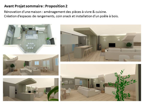 Rénovation d'une maison à Dommartin - phase de conception