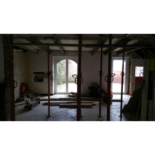 Maçonnerie dans une maison ancienne