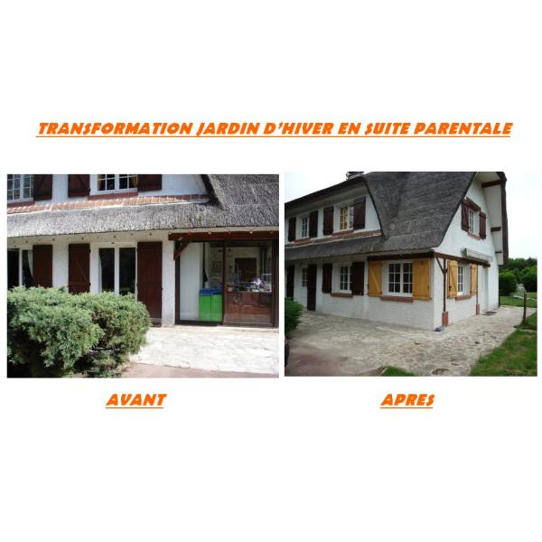 AMENAGEMENTS D'UNE CHAUMIERE - CHAUMES-EN-BRIE