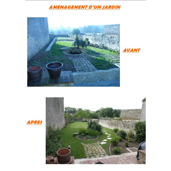 AMENAGEMENT D'UN JARDIN - COURPALAY