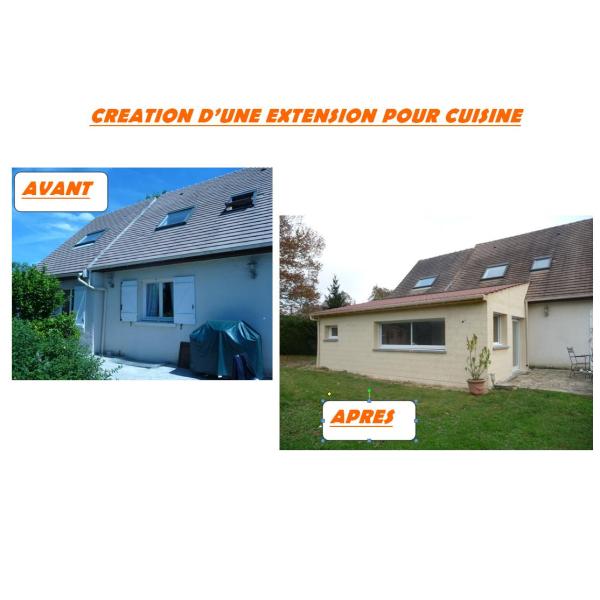 CREATION D'UNE EXTENSION POUR NOUVELLE CUISINE - LA CELLE-SUR-MORIN