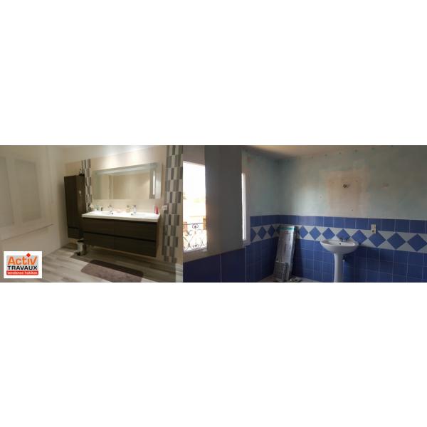 Rénovation d'une salle de bain à st Sébastien