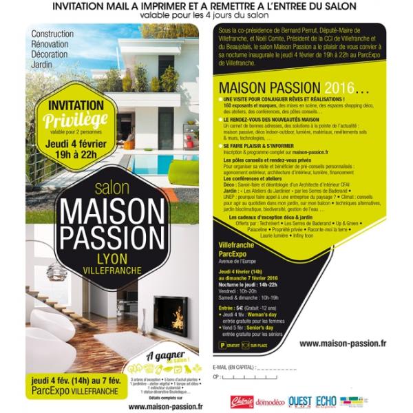 Invitation salon Maison Passion de Villefranche - février 2016