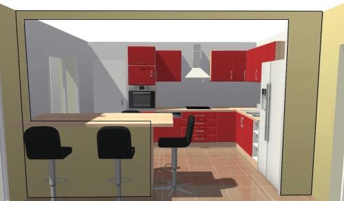 Aménagement intérieur pour une nouvelle cuisine