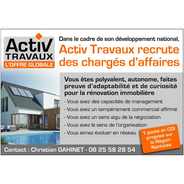 Recrutement d'un(e) chargé(e) d'affaires sur Nantes Métropole