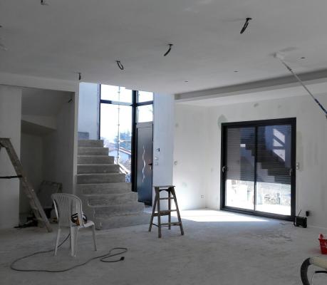 Travaux second oeuvre - villa contemporaine - Pollionnay
