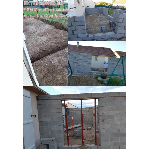 Extension véranda 20 m2